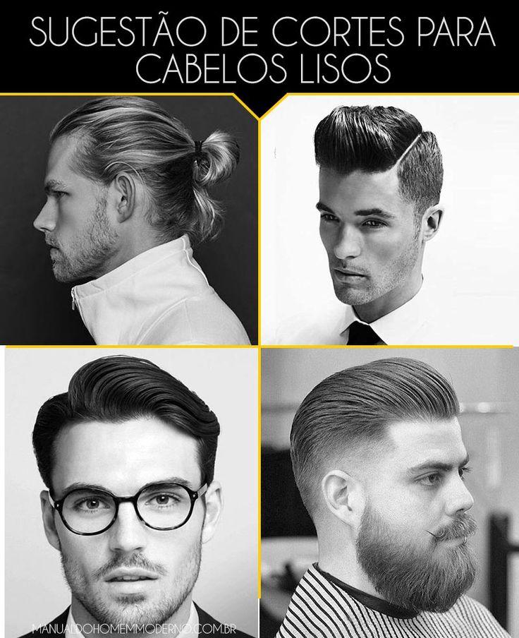 4 cortes de cabelo masculino liso para você se inspirar.
