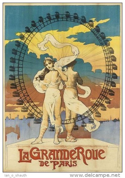 Postcard - poster reproduction - La Grande Roue de Paris 1899 (