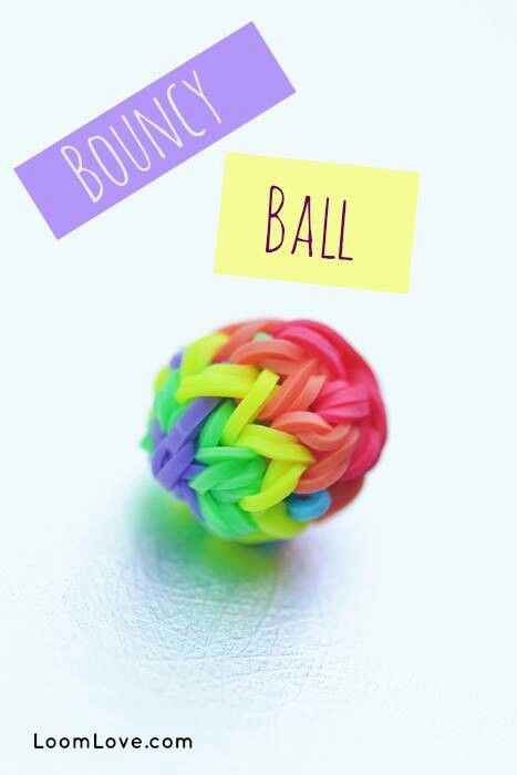 Loom band bouncy ball