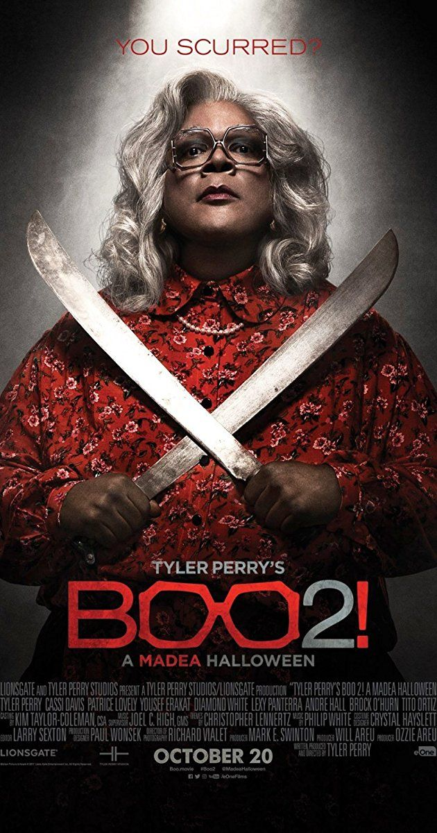 """Directed by Tyler Perry.  With Tyler Perry, Cassi Davis, Patrice Lovely, Yousef Erakat. Madea, Bam, and Hattie venture to a haunted campground and the group must run for their lives when monsters, goblins, and the boogeyman are unleashed. """"Silly fun for Madea fans."""""""