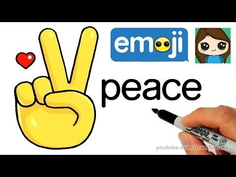 cool How to Draw Peace Sign Hand Emoji