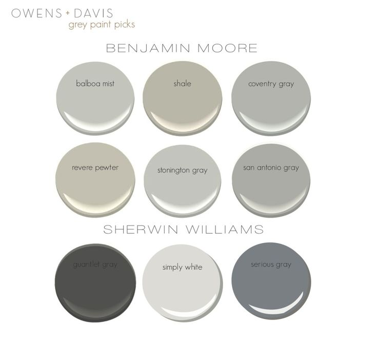 The Gray Paint Guide: Gray is a classic, elegant color for any space. It looks good as the foundation color for a room, on cabinetry or on furniture. Gray pairs well with blues, greens and other neutrals and is timeless. It's a good alternative to white if you looking for another neutral for your home. We use gray often in our designs and know it can be hard picking the perfect color so we've created a gray paint guide as a reference for you. See below for our gray paint guide and examples…