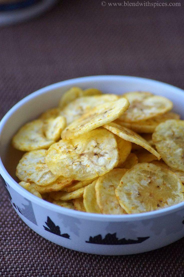 Kerala Banana Chips Recipe - Homemade Vazhakkai Chips - Onam Recipes | Indian Cuisine