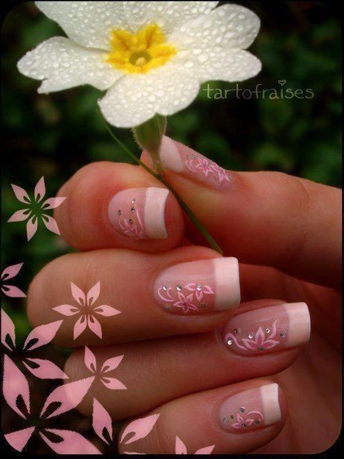 francesa con flores