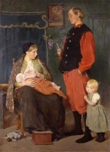 Gari Melchers (1860-1932) The Family, c. 1895 Oil on canvas, 73  ¾ x 53 inches Staatliche Museen zu Berlin (National Gallery), Berlin, Germany