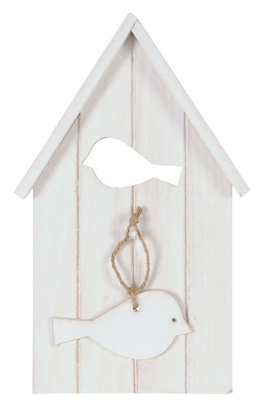 Vogelhuisje Vogel: leuk als decoratie voor je buitenmuur of schutting