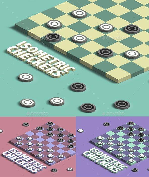 Isometric Checkers Kit Kit Games Pixel Art Games Isometric