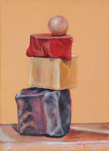 """""""In equilibrio"""" 2007, olio su tela, cm 35 x 25"""