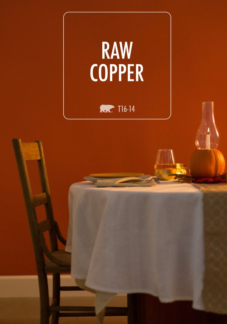 Raw Copper Behr Paint Is Sure To Take Center Stage In Your Next Room Makeover This Cozy Yet