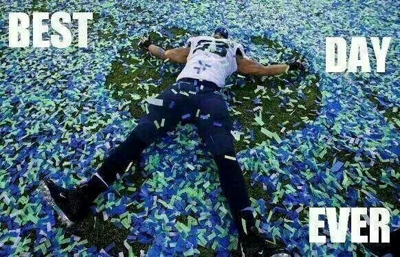 Seattle Seahawks for the win baby - Superbowl 2015. WE ARE GOING TO THE SUPER BOWL!!!