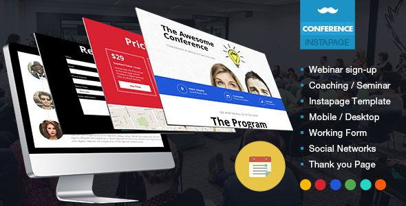 Webinar Sign-Up Conference Landing Page on #Themeforest