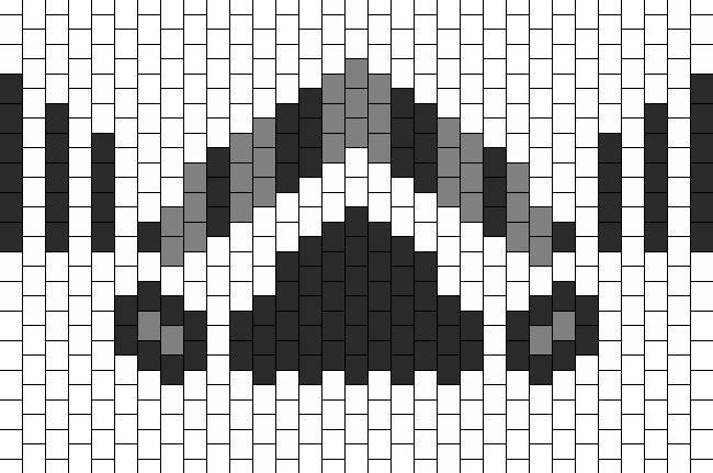 Stormtooper Mask Bead Pattern | Peyote Bead Patterns | Characters Bead Patterns