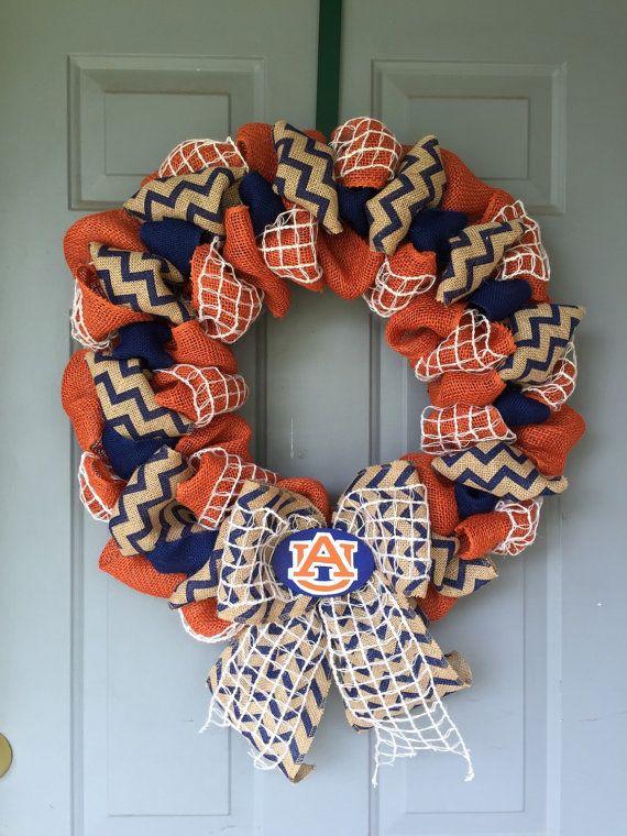 Auburn University burlap wreath by CiCiBlueDesigns on Etsy
