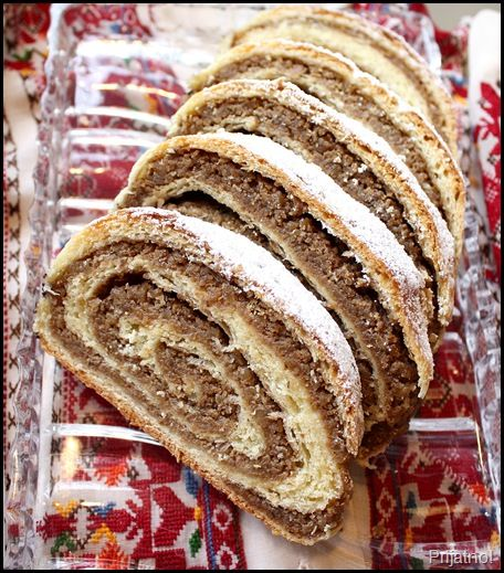 Walnut and Poppy Seed Strudel. My favorites!