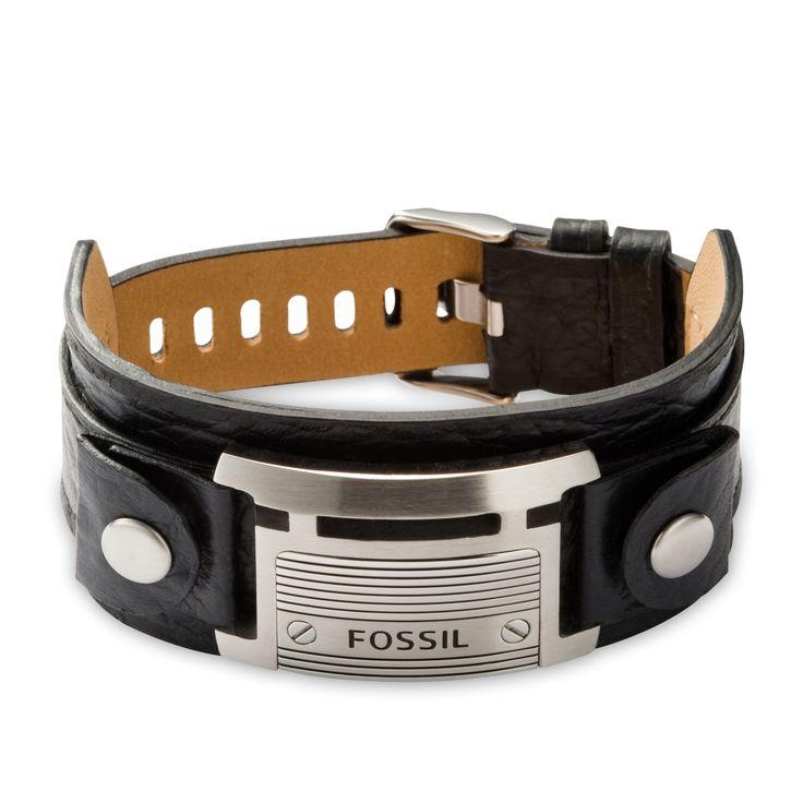 Fossil Armband für Herren JF84816040 mit Gravur aus der Serie Vintage Casual hier online bestellen