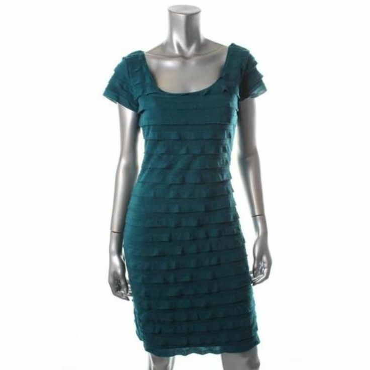Studio M Green Tiered Casual Dress, Extra Small, $37.00CAD + shipping (Reg. $98.00) http://stylenstuff.ca/products/studio-m-green-tiered-casual-dress-extra-small
