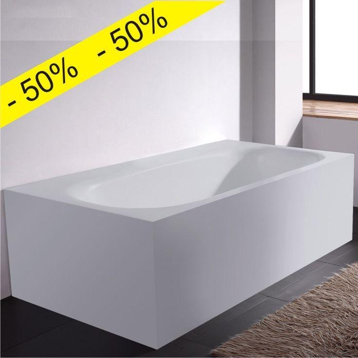 UltraJet Wisdom line Oblongo frittstående helstøpt badekar