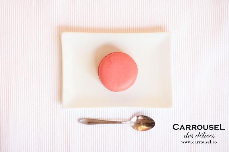 Macarons fondant Raspberry.
