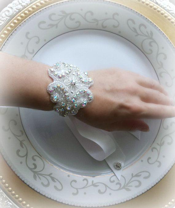 Wrist CorsageCorsage BraceletBridal Bracelet by TheTossedBouquet