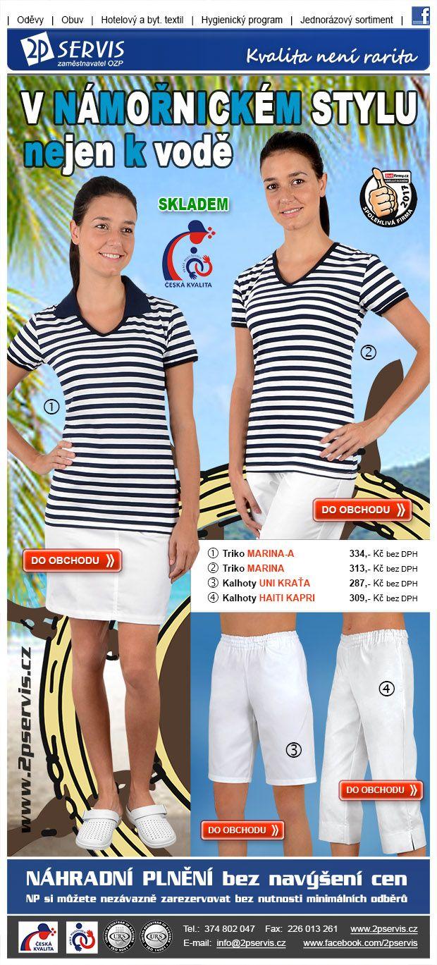 ★ ★  Pruhované triko + bílé kalhoty = trend co stále frčí  ★ ★