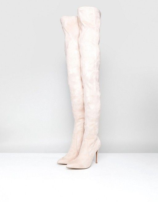 859ac5be4e5 KENDRA Point Over The Knee Boots
