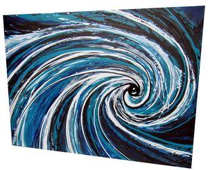 Fluid Spiral Acrylic painting by www.fiona-clarke.com