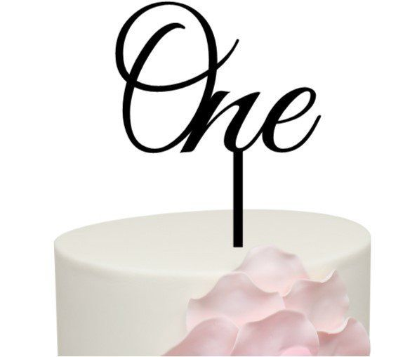 Word Number Cake Topper