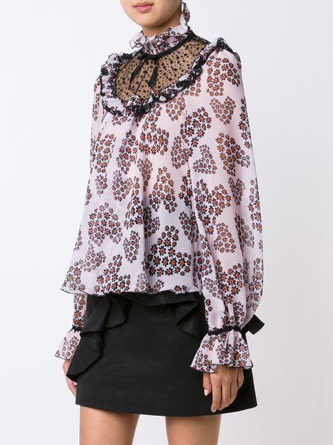 Giamba блузка с оборками