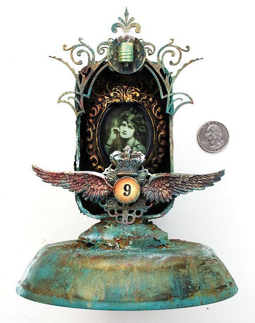 No. 9 Curio Tin -Full base view by jack and cat curio, via Flickr