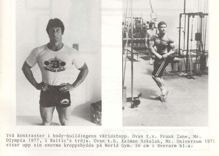 1978 Golds Gym,Frank Zane,Baltic Club T-shirt