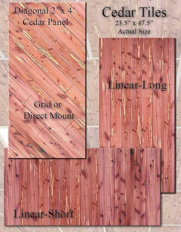 Drop In Cedar Plank Tiles For Suspended Ceiling Teschky