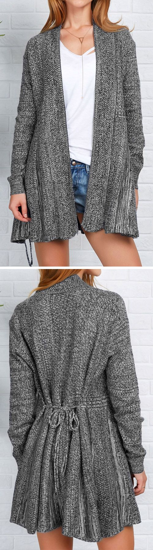 Only $27.99 for this Sweater cardigan& free shipping~ Easy Return+Refund! You have just entered cardigan heaven! This Open front long sweater cardigan is totally cozy and warm! Cupshe.com will be sure to turn heads!