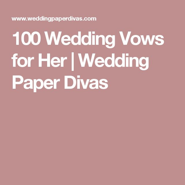Wedding vows for her on pinterest vows for her romantic wedding