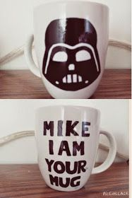 DiaryDIY: DIY•Painted Mugs Check out this blog!! Star Wars mug!