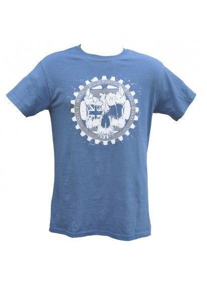 Oily Rag Classic Skull  N  Gears T Shirt OR-23 Retro Distressed Print Size Med
