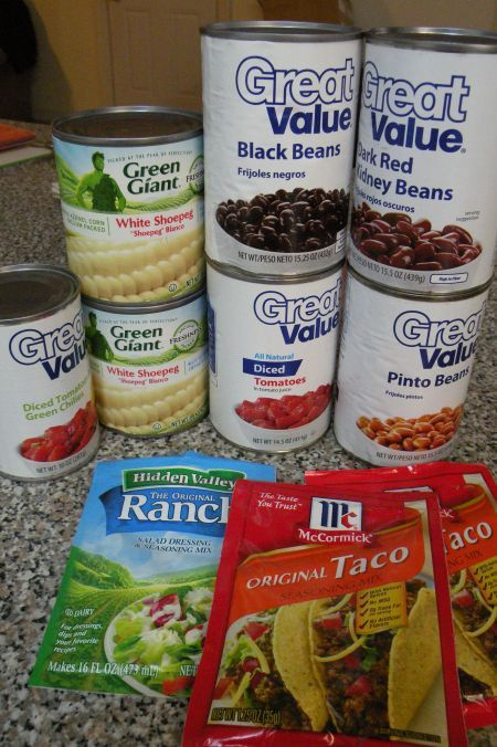 Sante Fe Soup (crockpot)  Something about just dumping cans and packets in one pot makes this appealing :-)