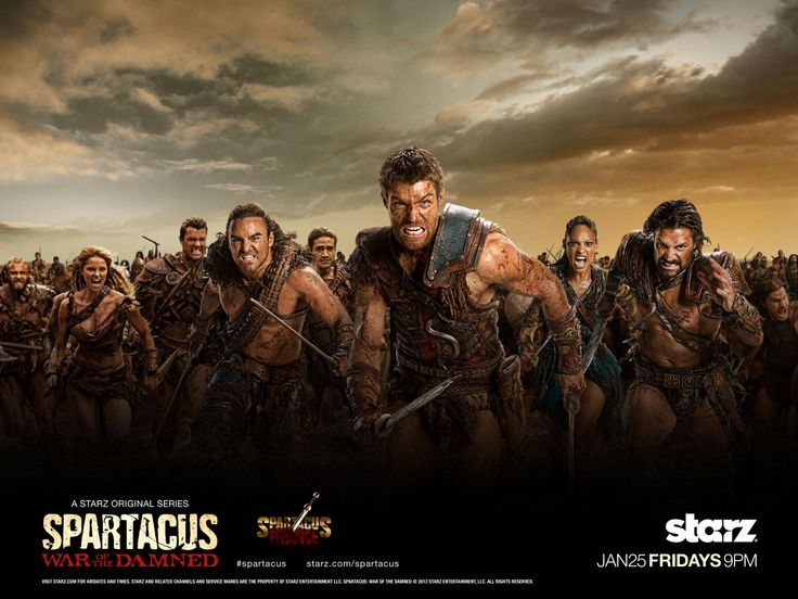 Spartacus War of the Damned poster - strong female characters!