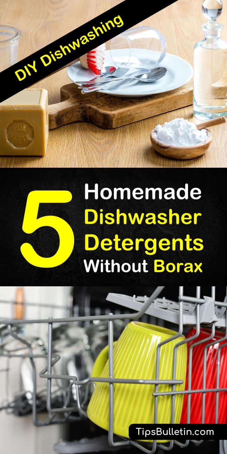 5 Highly Effective Diy Dishwasher Detergent Recipes Without Borax Homemade Dishwasher Detergent Dishwasher Detergent Diy Dishwasher Detergent
