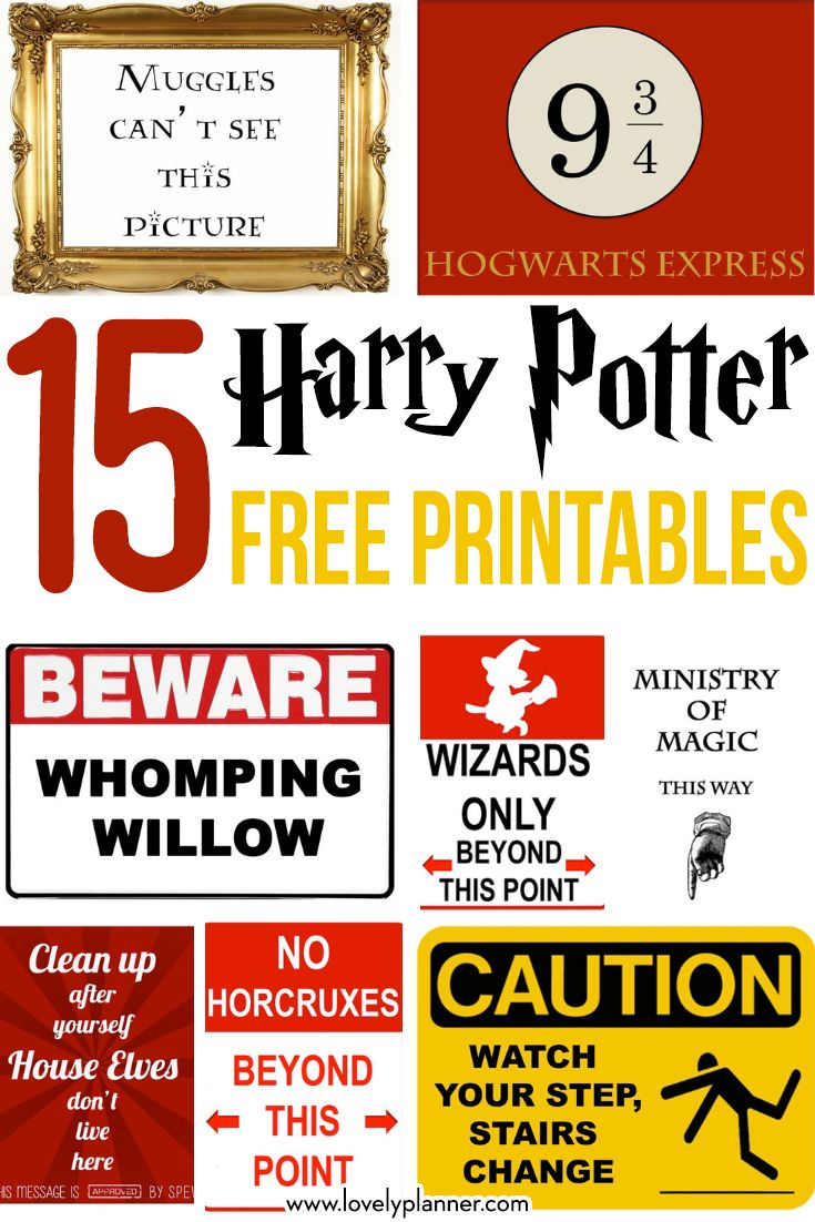 15 Free Harry Potter Party Printables Part 1 Lovely Planner Harry Potter Printables Harry Potter Sign Harry Potter Bday