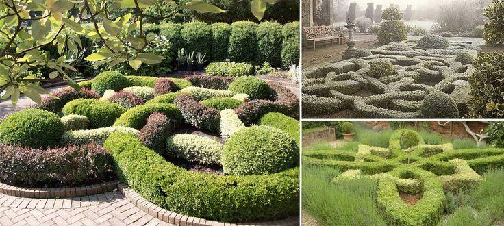 En knot garden är i princip en stiliserad kryddträdgård. De flesta knutträdgårdarna från renässansen är borta för längesedan, men nya anläggs än idag. De strikta formerna blir blickfång även i den lilla trädgården.