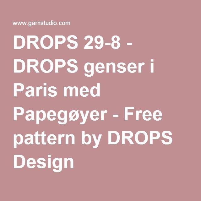 DROPS 29-8 - DROPS genser i Paris med Papegøyer - Free pattern by DROPS Design