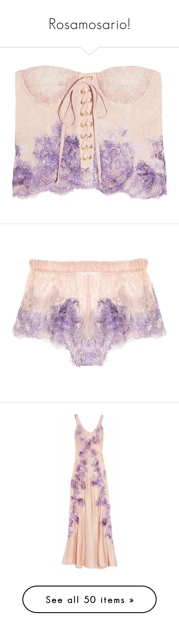 """""""Rosamosario!"""" by blueladybird ❤ liked on Polyvore featuring intimates, shapewear, lingerie, tops, underwear, corsets, women, panties, shorts and purple"""