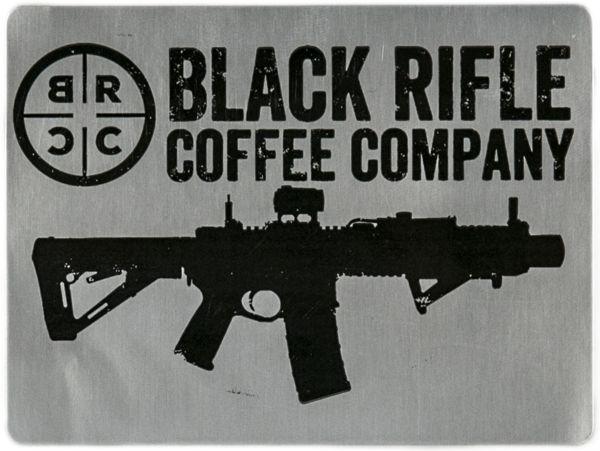 BRCC Silver Sticker - Black Rifle Coffee Company