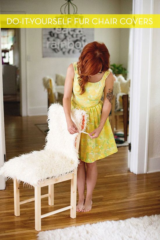Make It DIY Faux Fur Chair Covers