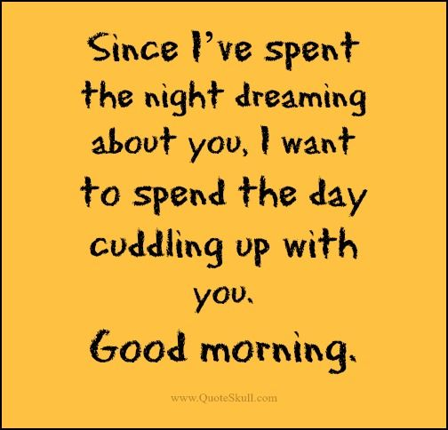Cute Good Morning quotes for Girlfriend