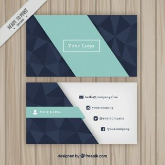Tarjeta de empresa geométrica con polígonos