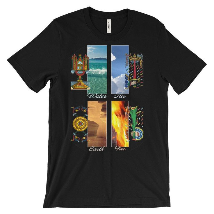 "t-shirt Unisex short sleeve serie The Tarot  ""The four elements""  Alori1961"
