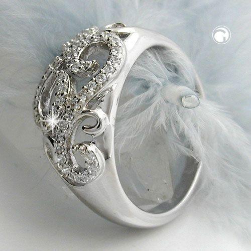 Ring mönstrad zirconias Äkta Silver