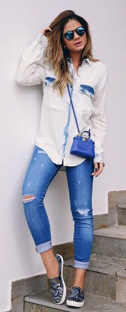 Jeans com Jeans + Bolsa Blue