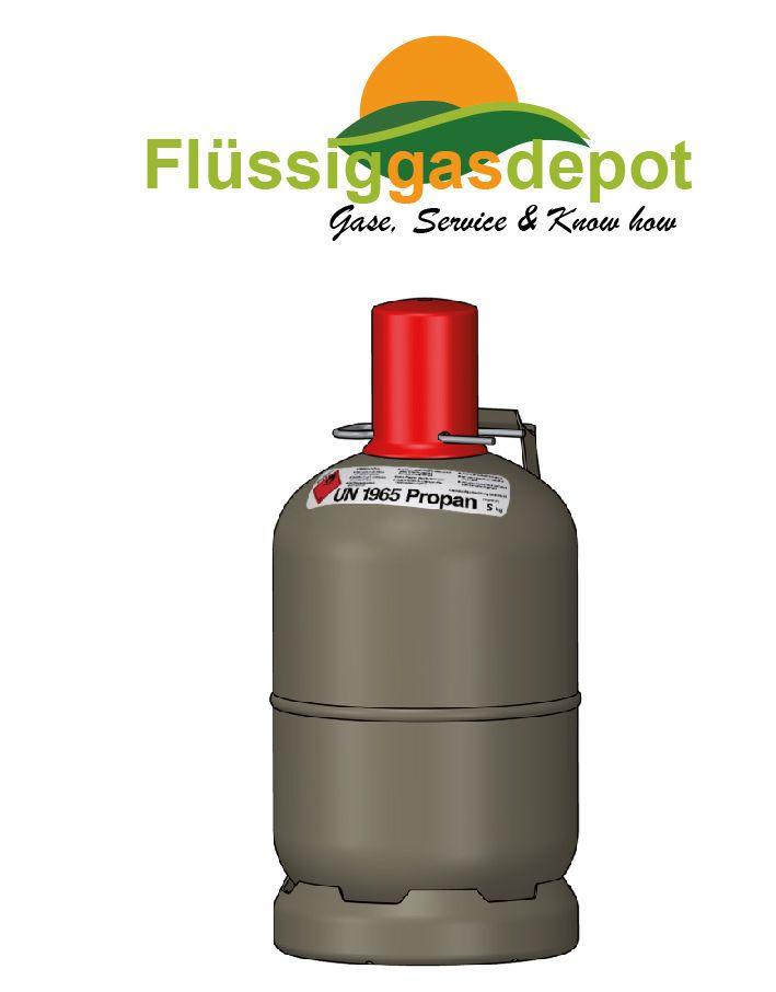 Propangasflasche 5 kg Gasflasche Gasflaschen Eigentum Nutzung mit TÜV leer